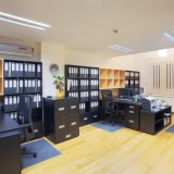 Interior of an office, modern design, simple furniture.